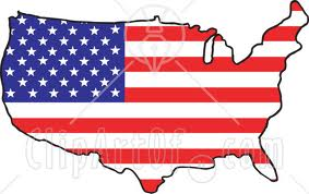 Map US Flag